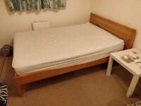 Ikea wood double bed