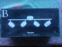 Thorpe, white, 4 light spotlight bar