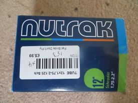 BRAND NEW NUTRAK INNER TUBES TO FIT TYRES 12 x 1.75-2.125 SCHRADER ONLY £2.00 EACH COST £5.99 EACH