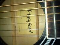 Acoustic guitar black. Made by Westfield