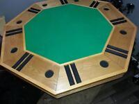 poker table bumper pool