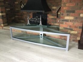 Glass TV stand & side table