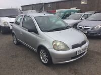 52 REG TOYOTA YARIS SR MODEL IN VERY CLEAN CONDITION LOW MILEAGE ALLOYS CD DRIVES LIKE NEW PX WELCOM