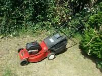 Petrol lawnmower self propelled mower