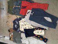 11x Boys trousers 12-18 months