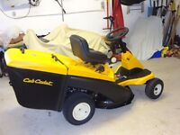 "Cub Cadet Ride on Mower - 30"" cut collector - as new"