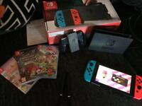 Nintendo switch with x3 games