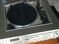 Retro Akai Hi Fi Music Centre includes record deck and cassette player. Very good condition