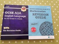 As New GCSE Revision Guides for English & Maths VGC - cash on collection from Gosport Hampshire