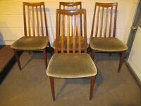 SET OF FOUR 4 VINTAGE G PLAN DINING CHAIRS FREE DELIVERY