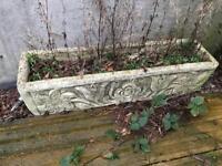 Stone planters trough x2