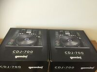 Gemini CDJ-700 Pair - Used once - Perfect condition