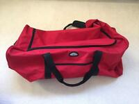Large Red Hold-all Suitcase