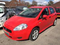 2007/57 FIAT GRANDE PUNTO 1.2 ACTIVE,5 DOOR,RED,LOW MILEAGE,LOOKS AND DRIVES WELL,GREAT CONDITION