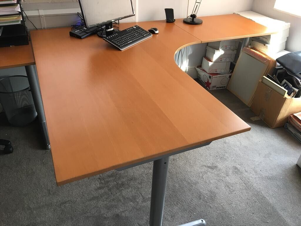 huge selection of 4eaf5 5c3a9 Large IKEA Corner/L-shaped Home/Office Desk (used). Overall Size  80x160x200cm | in Chester, Cheshire | Gumtree