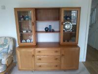 Ercol Windsor Elm Sideboard Dresser Display Cabinet
