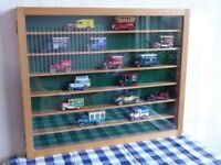 Solid beech hand-made display case