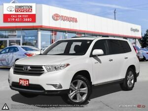 2013 Toyota Highlander V6 Limited Toyota Certified, One Owner...