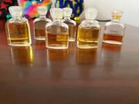 Set of vintage miniature perfumes