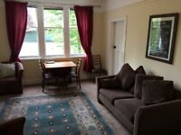Two bedroom property in popular Comely Bank with study/guest room