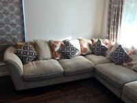 FURNITURE VILLAGE CORNER SOFA - ALMOST NEW (BOUGHT 15 MONTHS AGO)