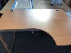 Beech Desks x2 L Shaped Right Hand
