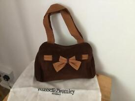 Russell and Bromley chocolate suede handbag