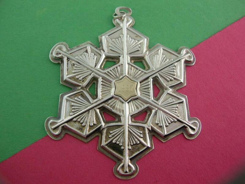 Sterling GORHAM Christmas Snowflake Ornament 1987