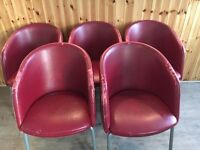 Free Chairs in need of some TLC (15 in total)- Collection only. Red Pleather could be re-upholstered