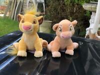 Small Disney plush toys the lion king simba and nala