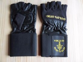 Golds wrist supported gym / weight gloves XL