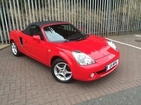 Toyota MR2 1.8 VVT-i 2 seat convertable Chilli Red Low Mileage & Full Toyota Franchise Maintenance