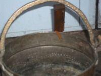 A brass bucket foe coal or wood