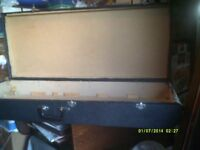 GUITAR CASE HAND BUILT , VERY STRONG CASE 42 by 17 by 6 inches , HANDLE HINGES CATCHES