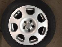 "Audi, VW 16"" alloys wheels with tyres 5x112"
