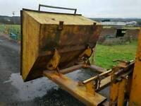 Large forklift tipping skip ideal for farm stables scrap rubbish building site etc