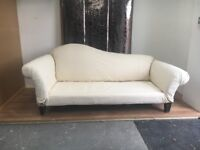Stylish curved back sofa. Two/three seater.Upholstery available . Comfortable sofa, settee, as new
