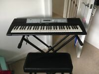 Yamaha Black electric keyboard