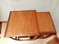G Plan Astro Nest of Tables - Teak Solid Wood Vintage Mid Century Modern MCM Retro