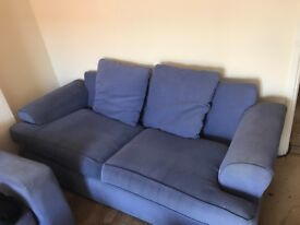 3 x 2 Seater Sofa's for Sale - Blue - Good Condition