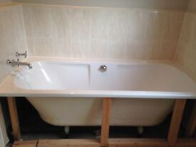 WHITE VILLEROY AND BOCH 1700 DEEP BATH integrated waste