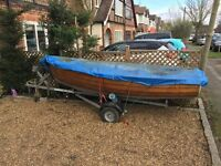 Clinker Built Rowing Boat