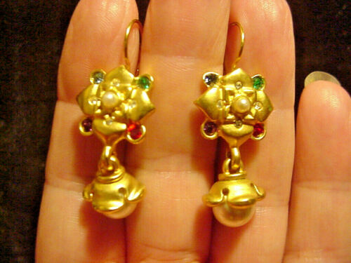 Smithsonian Vintage Earrings Repro Pearl Dangle Charles X King of France Pierced