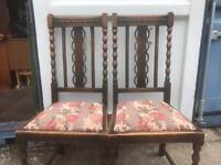 Pair of oak chairs FREE DELIVERY PLYMOUTH AREA