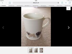 Fenella Smith pug dog mug