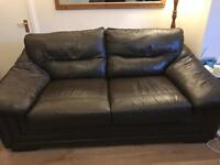 Dfs soft leather metal action sofa bed