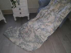 Toile de jouy curtains laura ashely fabric