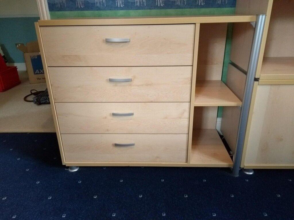 Bedroom Furniture Wardrobe Chest Of Drawers Shelving Unit Desk Single Bed And Bedside Cabinet In Tring Hertfordshire Gumtree