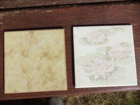 Bathroom tiles. 15cm by 15cm. 2 packs of 18
