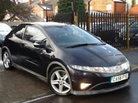 2007 Honda Civic 2.2 i-CTDi Type S GT Hatchback 3dr**PANORAMIC GLASS SUN ROOF**CHEAP BARGAIN CAR PX